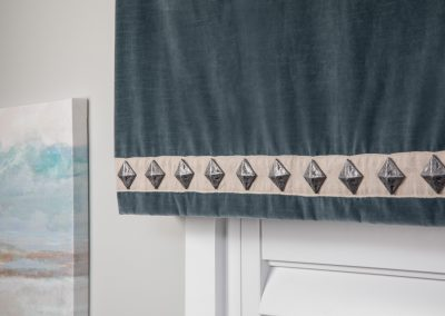 Velvet Valance with Decorative Trim