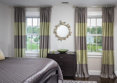 Gray and Green Color Block Drapes