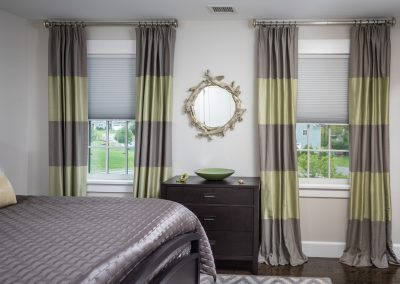 Gray and Lime Green Color Block Drapes