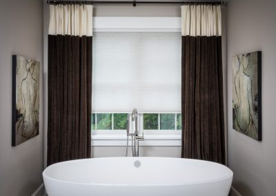 White anc Brown Drapes