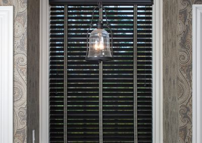Hunter Douglas Parkland shade with stripe tape