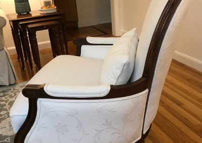 White Upholstered Chair