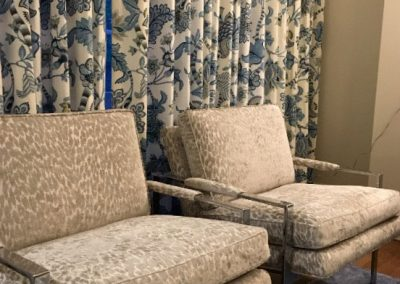 Tan Chenille Upholstered Chairs