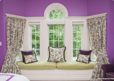 Floral Pleated Drapes